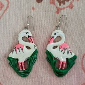Vintage Flamingo Earrings